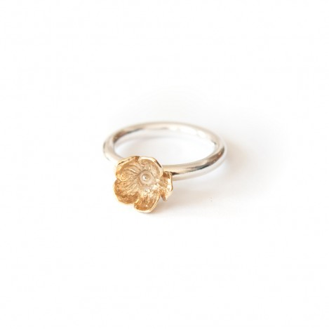 New flower ring – Gild
