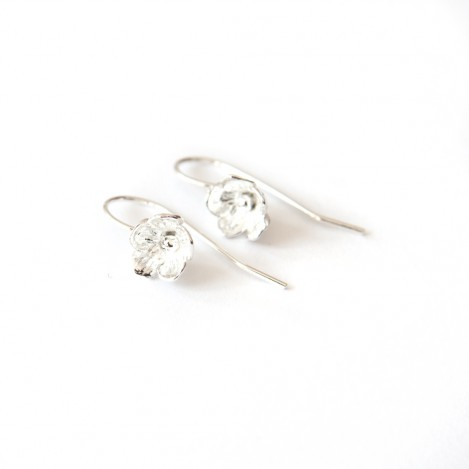 New Flower Earrings &#8211; Silver