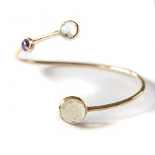 Tricolour bangle 1 &#8211; Gild