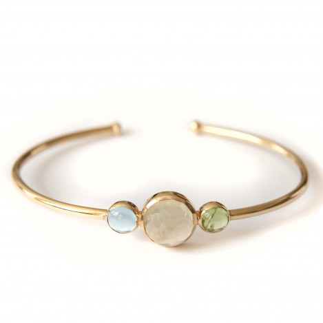 Tricolour bangle 2 &#8211; Gild