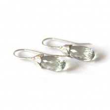 Coco Earrings Green Amethyst