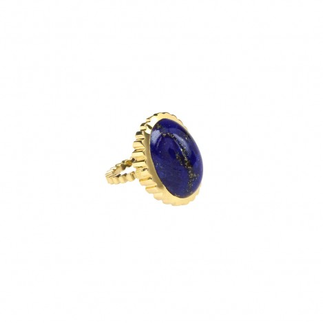 Lapis Lazuli and 18ct Gold Ring