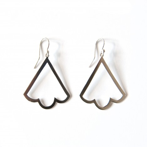 Bell Earrings – Silver