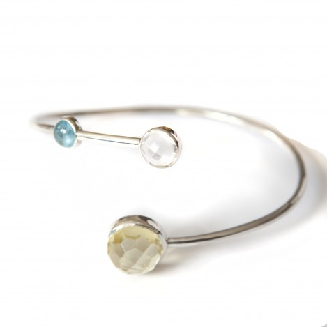 Tricolour bangle 1 – Silver