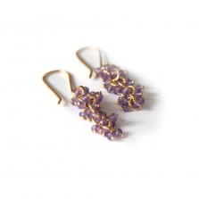 Iris earrings – Amethyst, Gild
