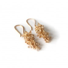 Iris earrings – Citrine, Gild
