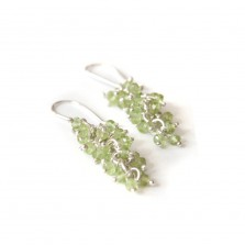 Iris earrings – Peridot, Silver