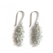 Iris earrings – Aquamarine, Silver