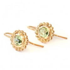 Venus earrings – Peridot, Gild