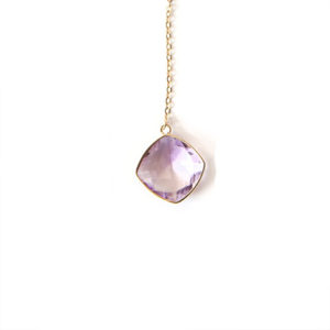 Amethyst-Necklace-Gold