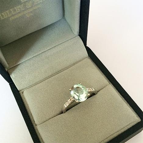 Aquamarine-and-Diamond-Ring