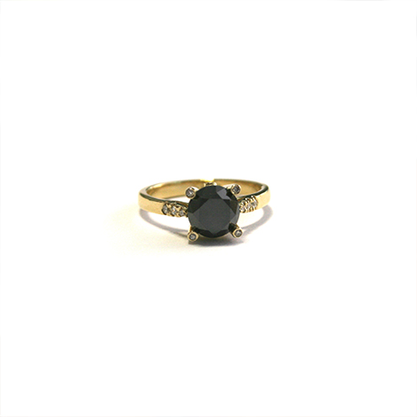 Black-Diamond-Ring-Yellow-Gold