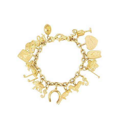 Customised-Charm-Bracelet-Yellow-Gold
