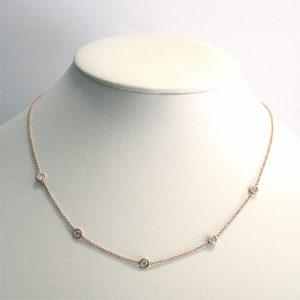 Dainty-Diamond-Necklace-Rose-Gold
