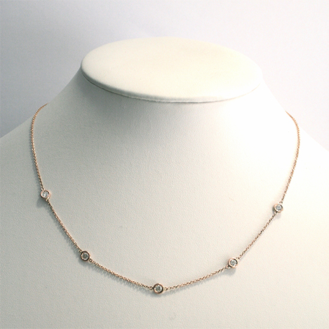 Dainty-Diamond-Necklace-Rose-Gold