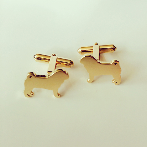 Dog-Cufflinks-Gold