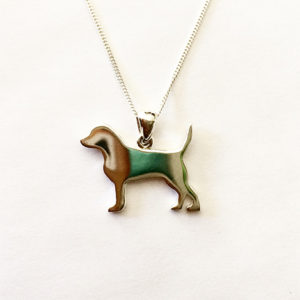 Dog-silhouette-necklace-silver