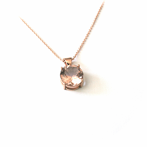 rose solitaire and morganite pid necklace gold gemstone pear pendant necklaces pendants