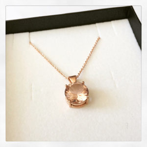 Morganite-Necklace-Rose-Gold