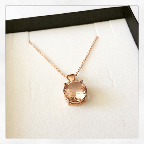 signature diamond gemstone jewelry less accent for necklaces cat gold graduated overstock rose heart miadora and watches necklace morganite collection tiered
