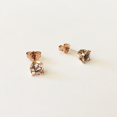 Morganite-Studs-Rose-Gold