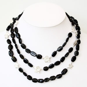 Onyx-and-silver-necklace