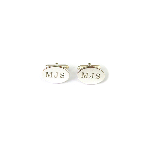 Oval-Initial-Cufflinks-Silver1