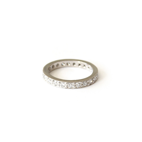 Pave-set-eternity-band