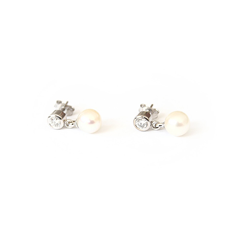 Pearl-and-Diamond-Studs