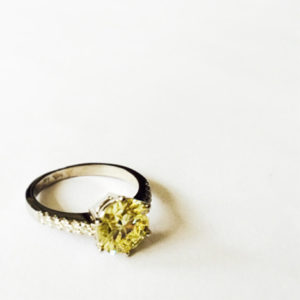 Round-Yellow-Diamond-Engagement-Ring
