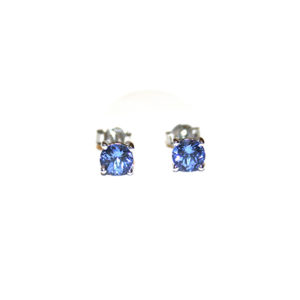 Tanzanite-Studs-White-Gold