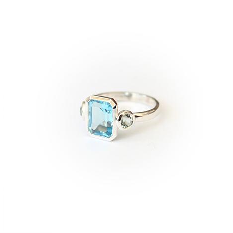 Topaz-and-aquamarine-ring