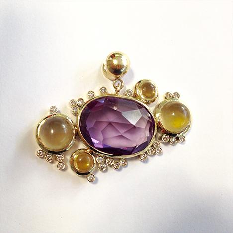 Amethyst-citrine-diamond-pendant