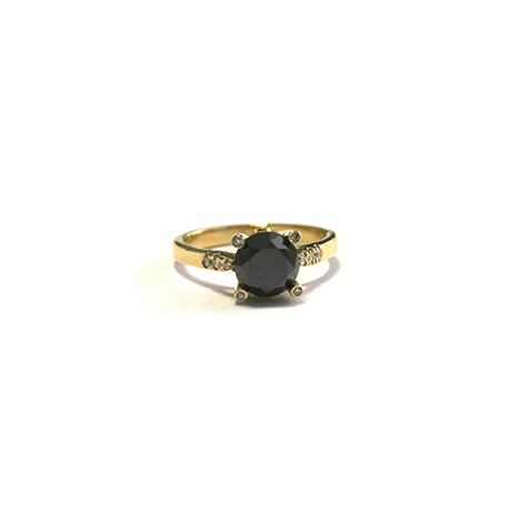 Black-Diamond-Engagement-Ring-Yellow-Gold