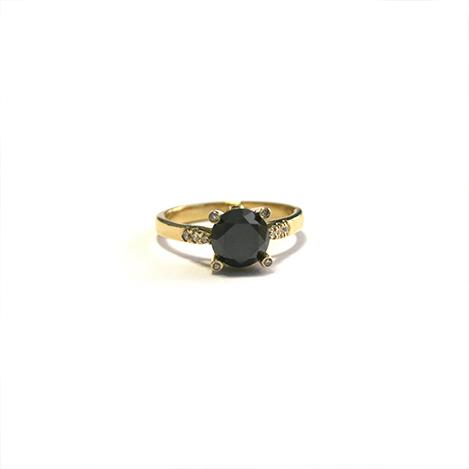 Black-Diamond-Ring-Yellow-Gold