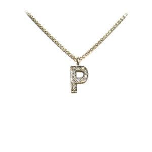 Diamond-Alphabet-Letter-Necklace-White-Gold