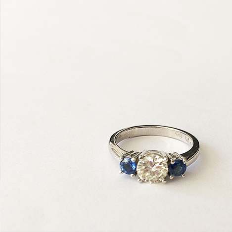 Diamond-and-sapphire-engagement-ring