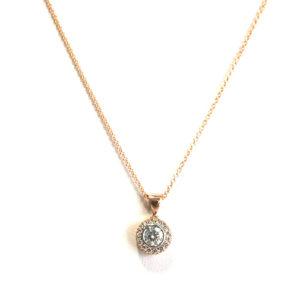 Diamond-halo-necklace-rose-gold