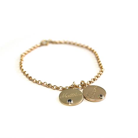Disk-Bracelet-Gold