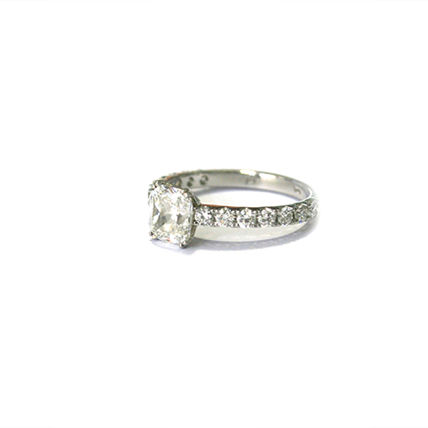 Double-Claw-Cushion-Cut-Engagement-Ring