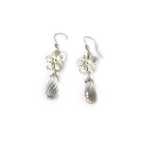 Floral-Topaz-Dangle-Earrings-Silver