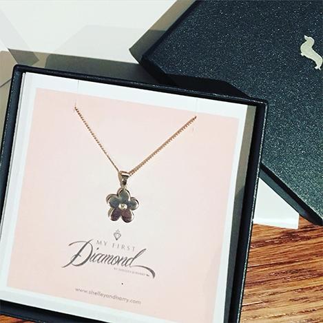 Flower-Diamond-Necklace-Silver