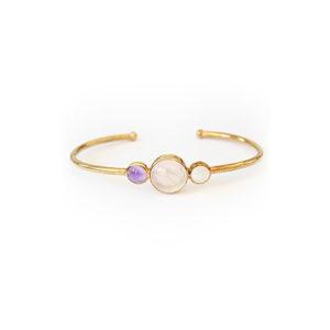 Gemstone-Tricolour-Bangle-Gold