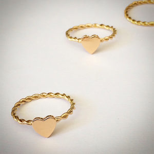 Gold-heart-stacking-rings