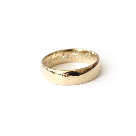 Mens-Wedding-Band-Gold