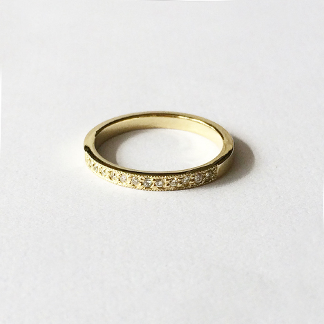 Millgrain-Pave-Eternity-Band-Yellow-Gold